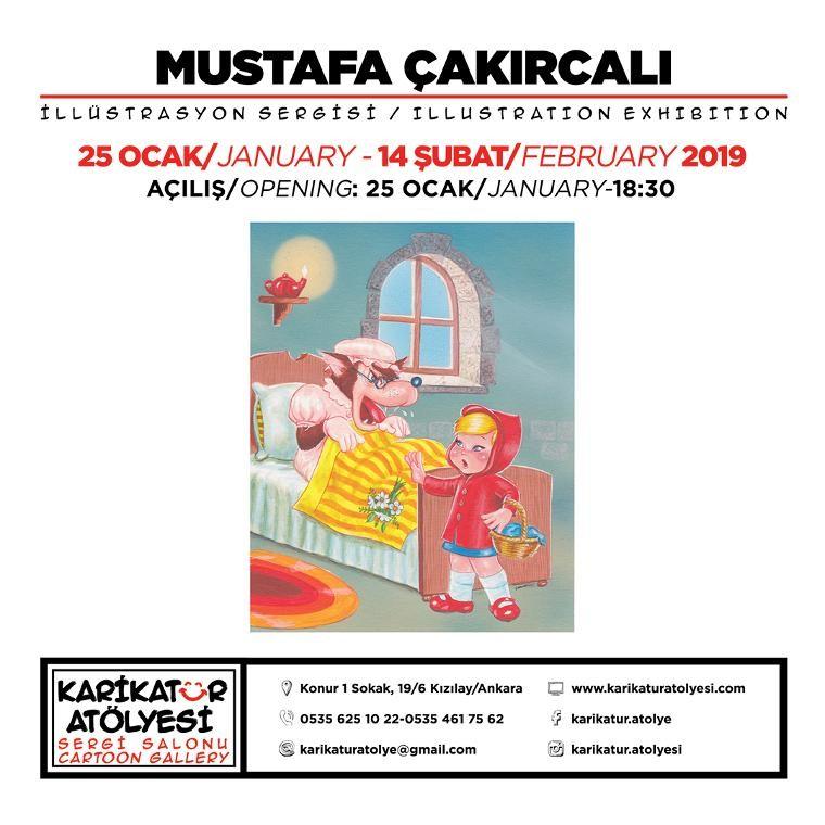 Usta çizer Mustafa Çakırcalı sergisi Karikatür Atölyesi'nde
