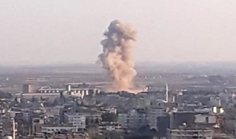 Türkiye - Suriye sınırındaki patlama böyle görüntülendi