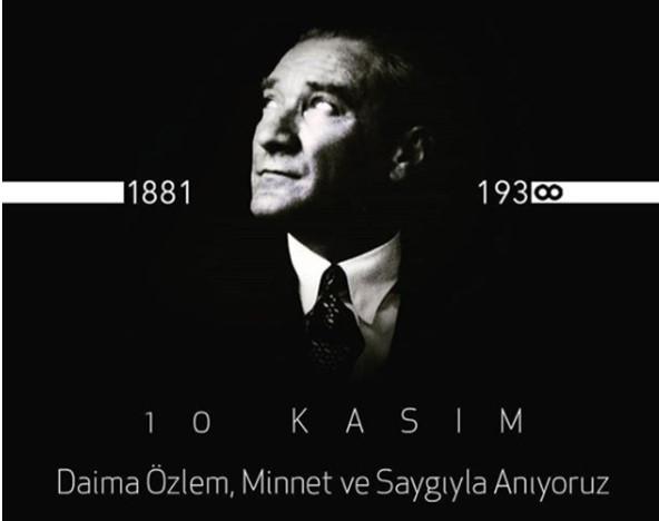 """ACUN ILICALI  """"Vefatının 81. yılında Cumhuriyetimizin kurucusu Büyük Önder Gazi Mustafa Kemal Atatürk'ü sevgi, saygı ve minnetle anıyorum."""""""