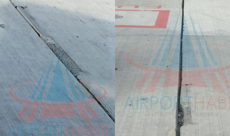 İstanbul Havalimanı zemininde kırık ve çatlaklar oluştu