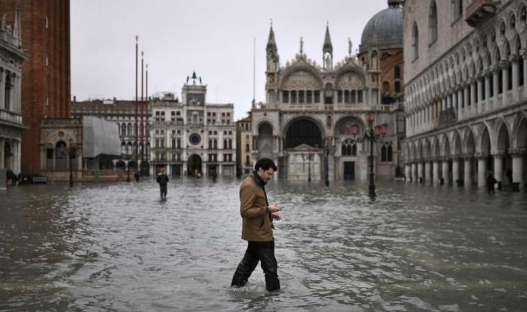 Venedik'te son 53 yılın en büyük su baskını