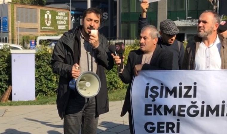 Üsküdar işçilerinden belediye önünde 'ekmek'li eylem: Topluca intihar mı edelim?
