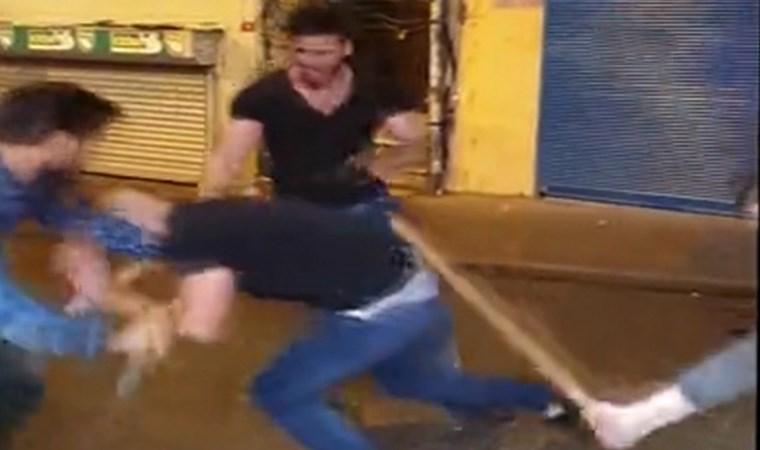 Taksim'de kavga: Demir sopalar havada uçuştu