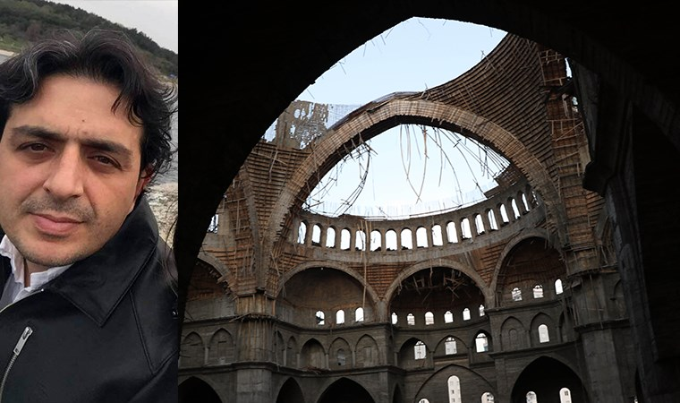 Cami inşaatında iskele çöktü: İnşaat mühendisi enkaz altında