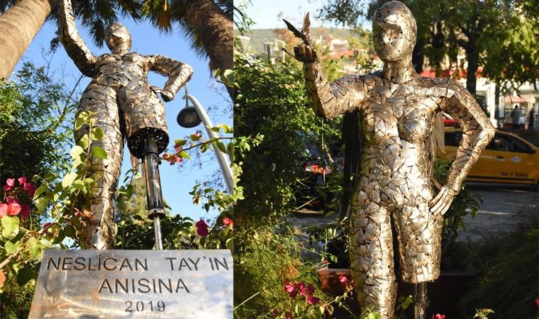 Neslican Tay'ın heykeli yapıldı