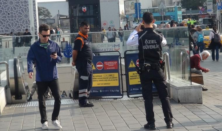 Taksim Metrosu'nda yangın paniği