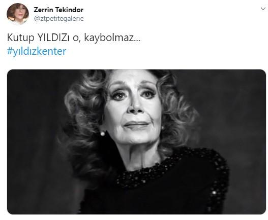 Ünlü Tiyatrocu Yıldız Kenter, tedavi gördüğü hastanede 91 yaşında hayatını kaybetti. Usta oyuncunun vefat haberini alan sevenleri sosyal medya hesaplarından paylaşımlarda bulundu... İşte o paylaşımlar...