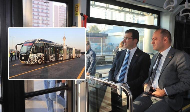 İmamoğlu test etti:  İşte yeni nesil yerli metrobüs