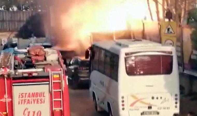 Kadıköy'de korkutan patlama kamerada!