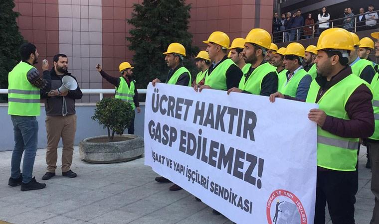 Gentes işçileri direnişe geçti