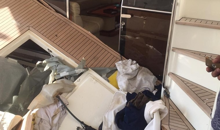 Teknede patlama! Yaralılar var