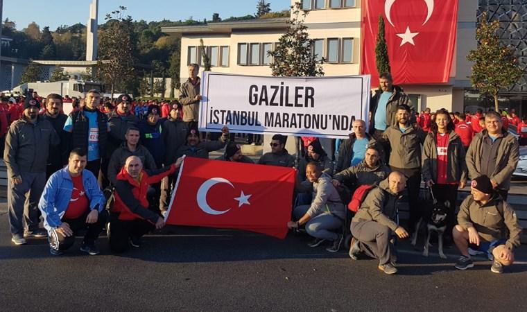 İstanbul Maratonu'nda gaziler de yarıştı