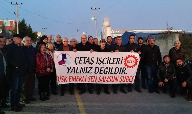 Çetaş işçilerinin grevi sürüyor