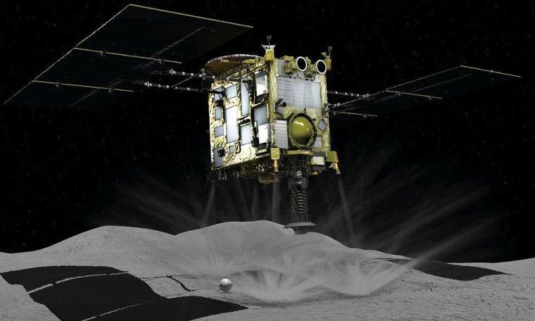 Japon uzay aracı Hayabusa-2, 280 milyon kilometre uzaklıktaki göktaşına indi
