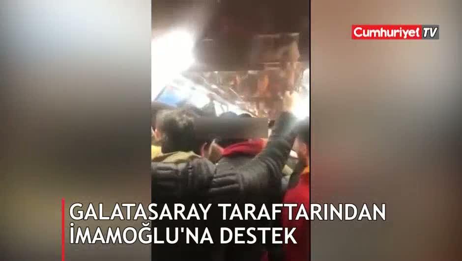 Galatasaraylılardan Ekrem İmamoğlu için çok konuşulacak mazbata tezahüratı