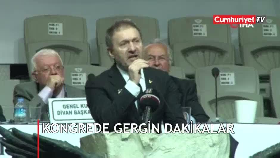 Beşiktaş kongresinde gergin dakikalar!