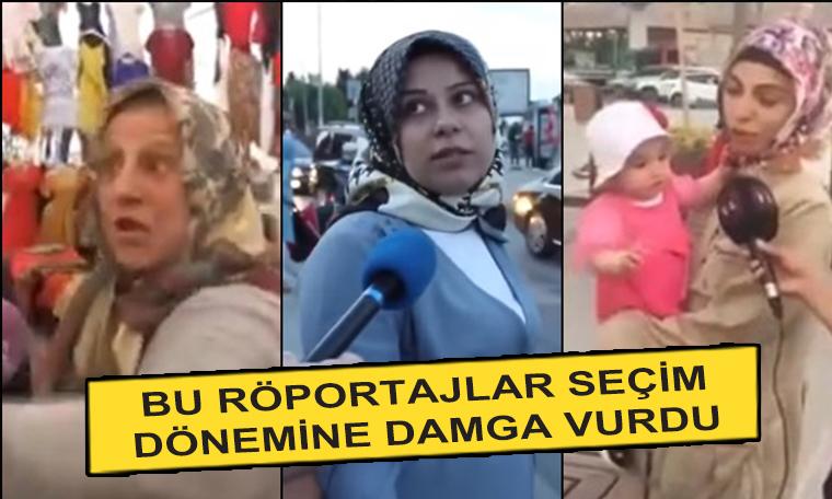 Seçim dönemine damga vuran sokak röportajları