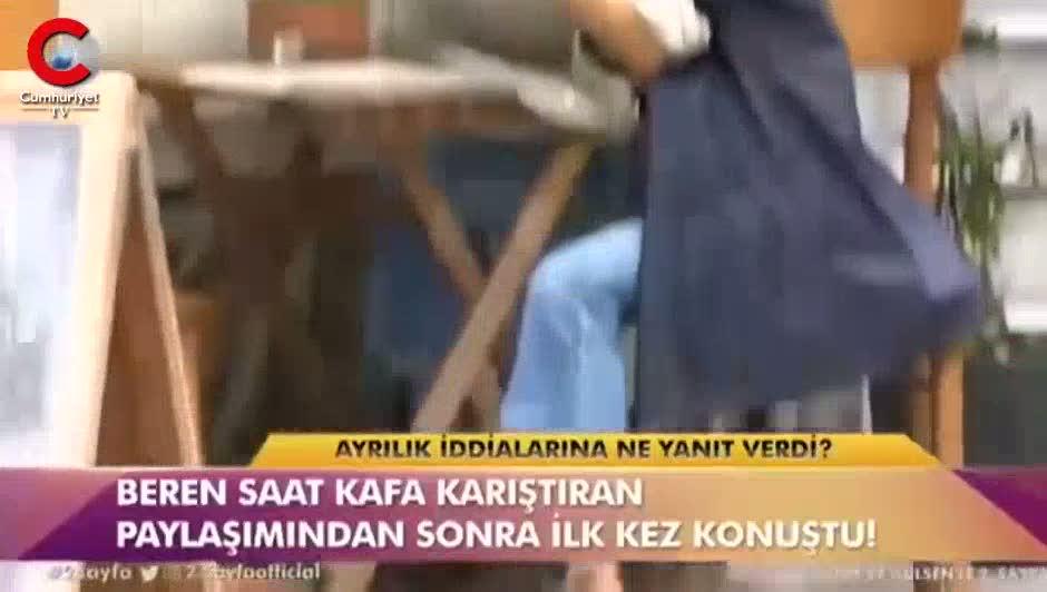 Muhabirler Beren Saat'e ısrarla sordu, kız arkadaşına sarılarak uzaklaştı
