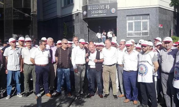 İBB çalışanlarından A Haber protestosu