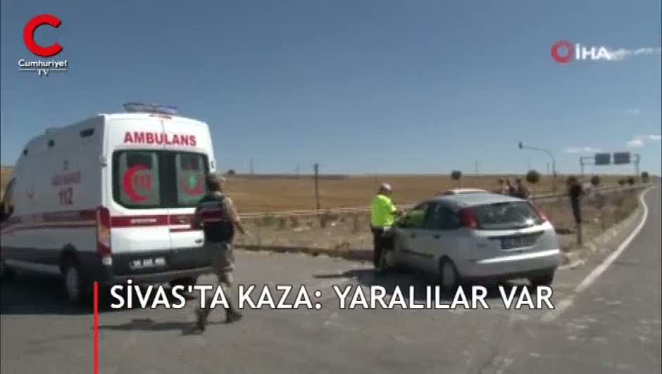 Sivas'ta feci kaza! Çok sayıda yaralı var