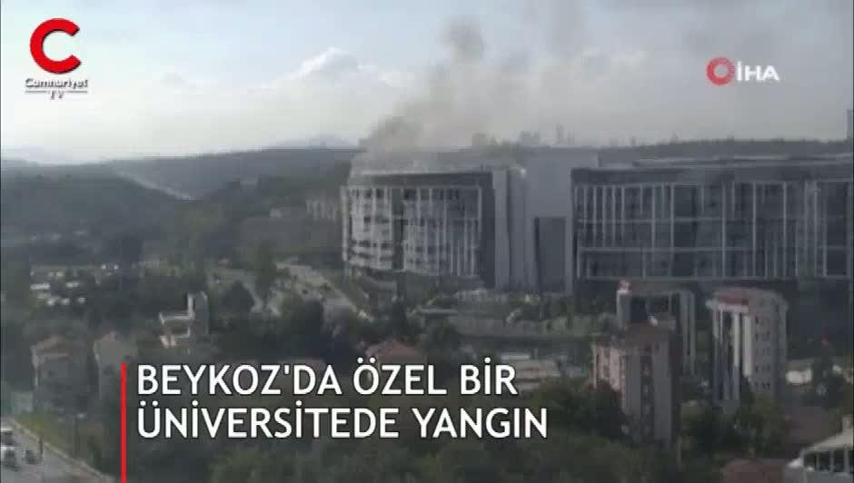 Beykoz'da özel bir üniversitede yangın