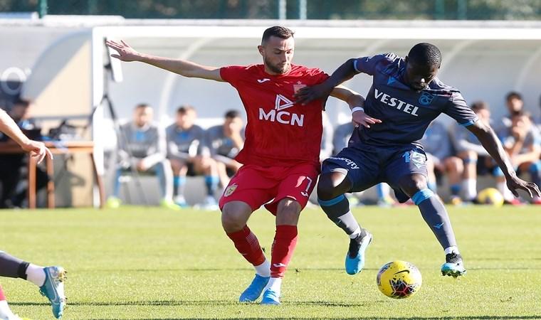 Trabzonspor Tiran'ı tek golle geçti