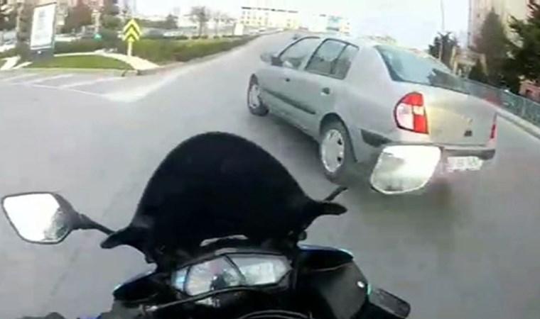 Motosiklet kamerasına kaza böyle geliyorum dedi