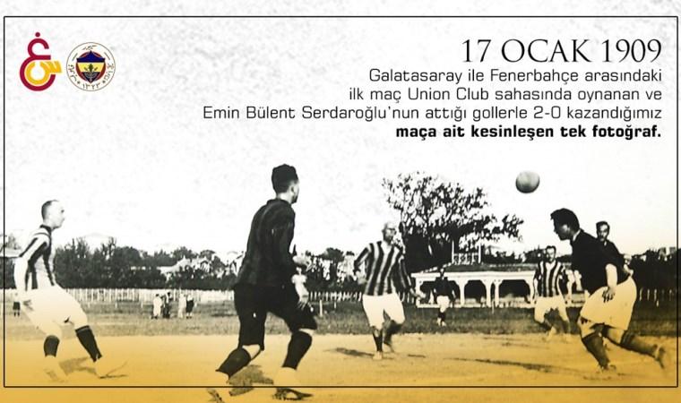İşte ilk Galatasaray - Fenerbahçe derbisinin tarihi fotoğrafı!