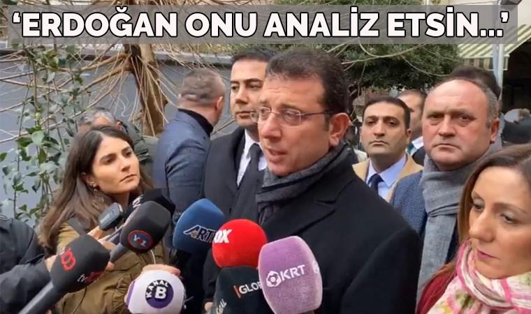 İmamoğlu'ndan Erdoğan'ın iddiasına tepki