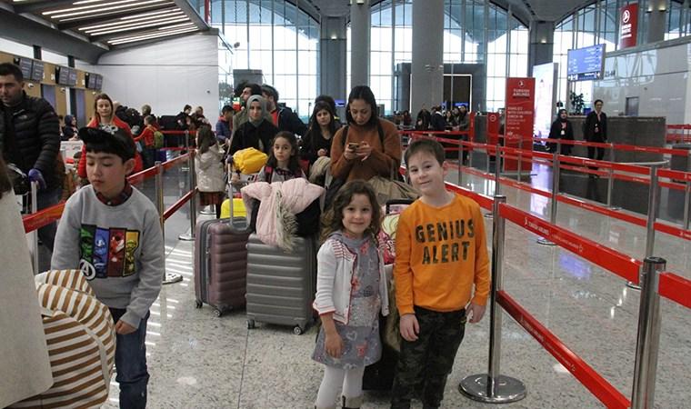 İstanbul Havalimanı'nda 'yarıyıl tatili' hareketliliği