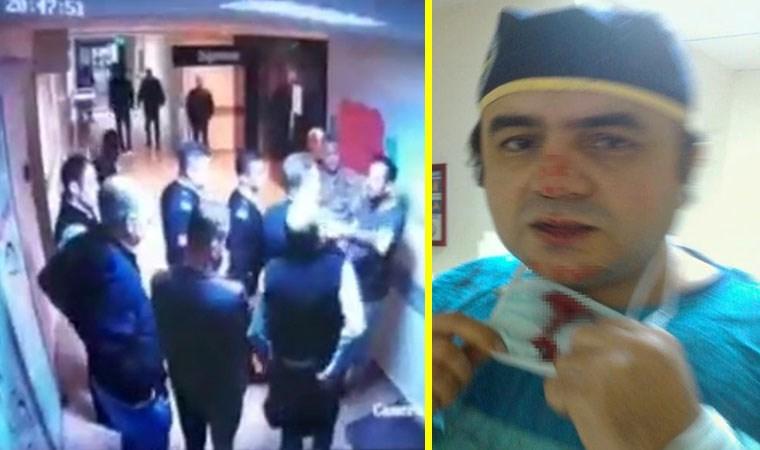 Kırık burunla ameliyat yapan doktora saldırı kamerada