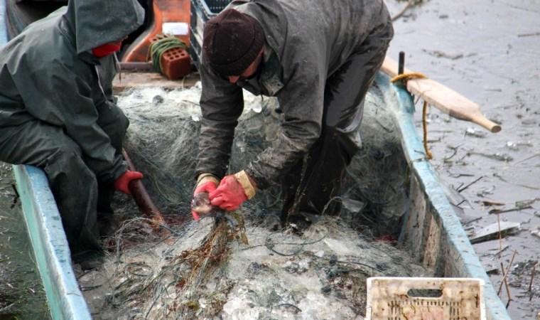 Balıkçıların ağı 'buza' takıldı