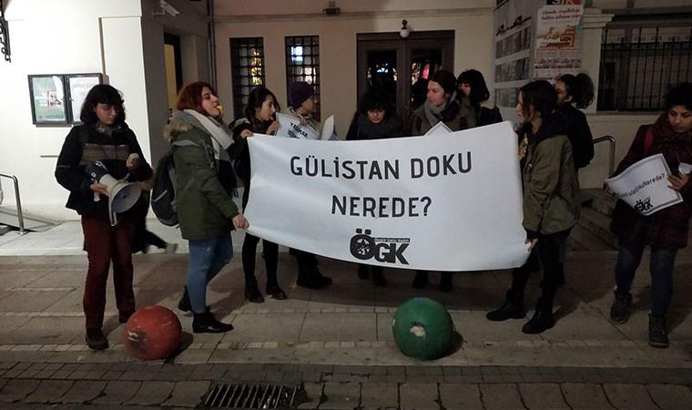 Kadınlar Gülistan için İstanbul'da eylem yaptı