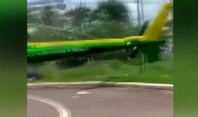 Operasyona giden polis helikopterine kamyon çarptı!
