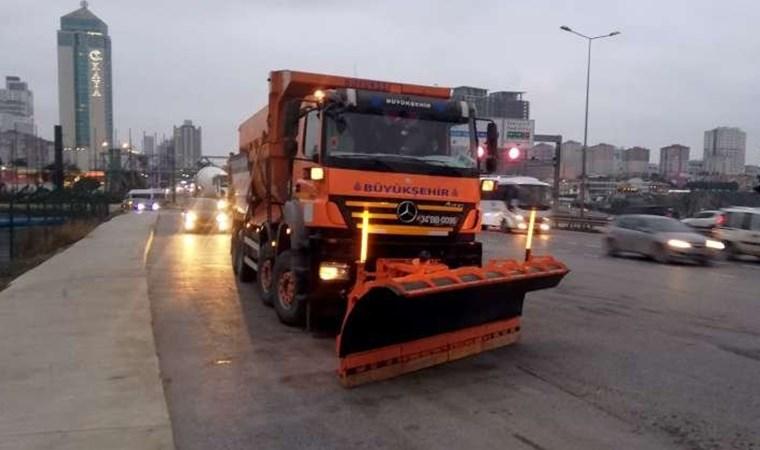İstanbul'da kar için alarm verildi! Ekipler harekete geçti