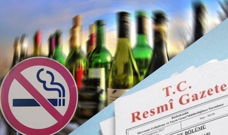 Alkol ve tütün piyasasına zam