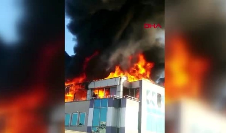 Antalya'da iş merkezinde yangın