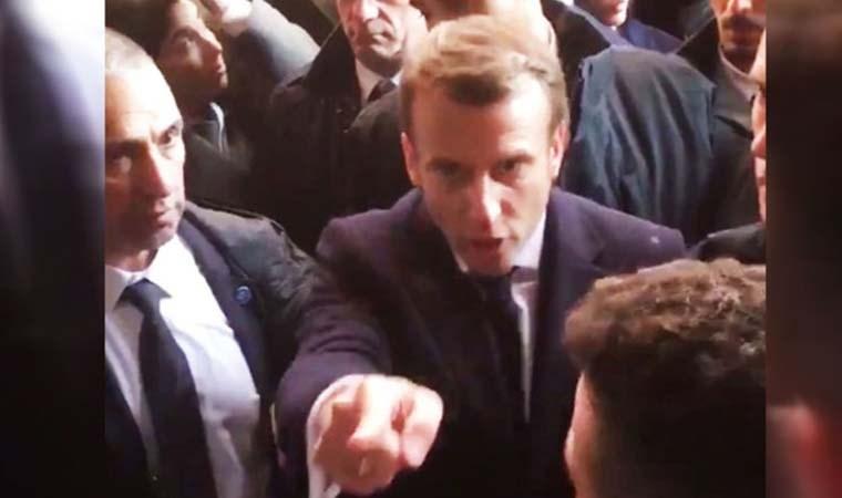 Macron  İsrail polisi ile tartıştı: Çık dışarı!