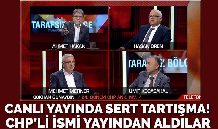 Canlı yayında ortalık karıştı! CHP'li isim ile Ahmet Hakan birbirine girdi