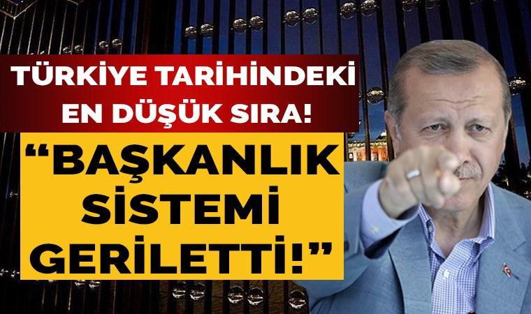Türkiye tarihindeki en düşük sıra! 'Başkanlık Sistemi' geriletti!