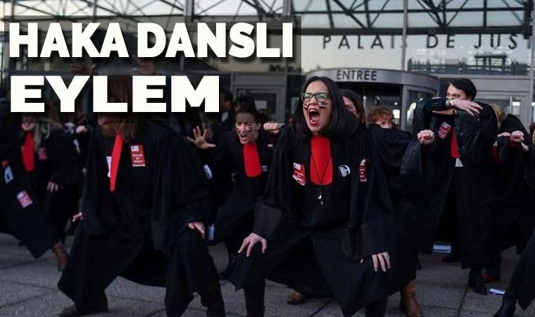 Fransa'da avukatlardan 'Haka' danslı eylem