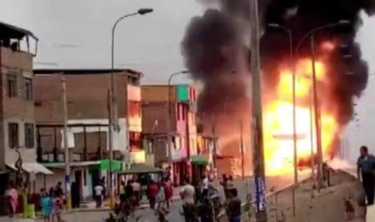 Peru'da gaz yüklü tanker patladı