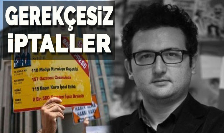 Muhabirimiz Ozan Çepni'nin de basın kartı iptal edildi!