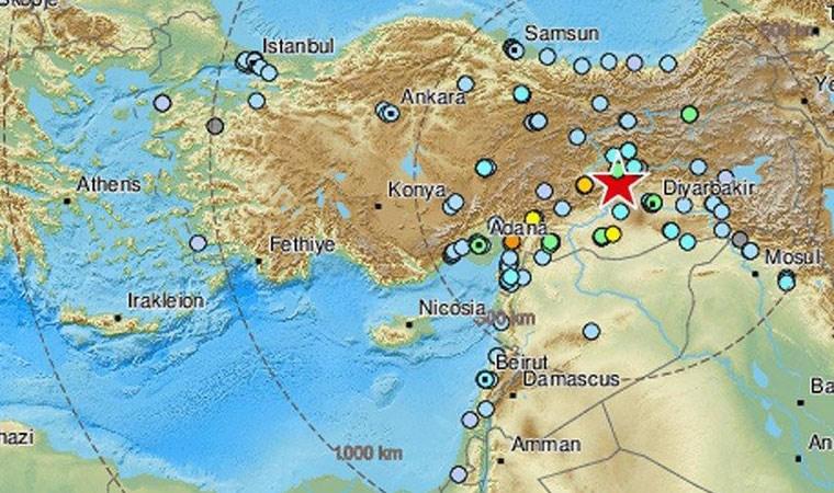 Türkiye'yi sarsan deprem bu ülkelerden de hissedildi