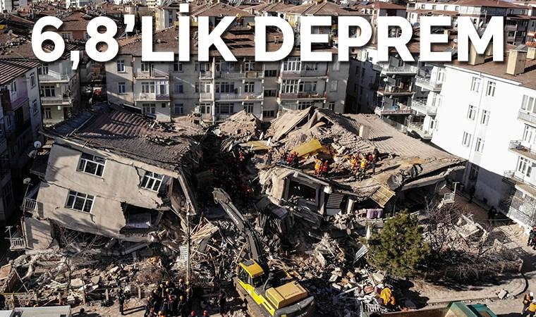 Elazığ'da 6,8 büyüklüğünde deprem: 22 kişi yaşamını yitirdi, 1031 kişi yaralandı