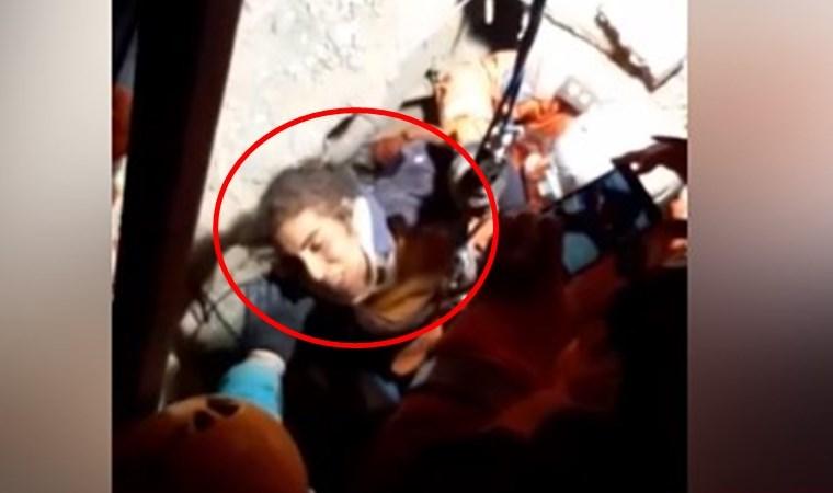 2,5 yaşındaki Yüsra Yıldız'ın annesinin kurtarılma anı kamerada