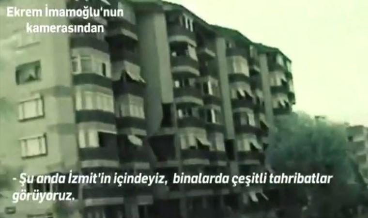 İmamoğlu'nun Marmara Depremi'ndeki görüntüleri ortaya çıktı