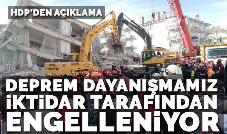 HDP'nin yardım kamyonlarının kente girişine izin verilmedi