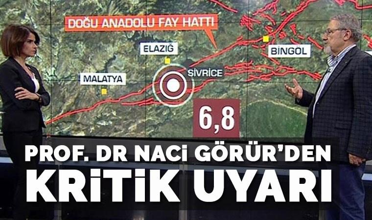 Prof. Dr. Naci Görür'den kritik uyarı