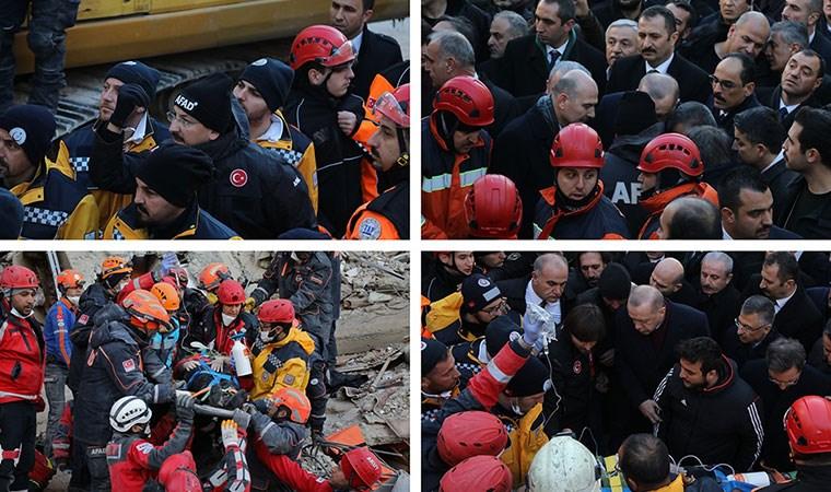 """""""Gönderin"""" talimatıyla enkazdan çıkarılan yaralı Erdoğan'ın yanına getirildi"""
